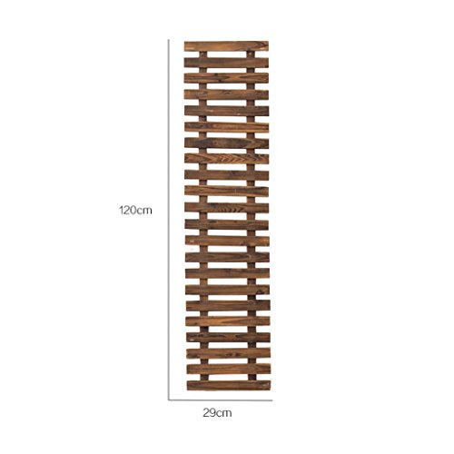 Smc Stand - SMC Solid Wood Wall Decoration Wall Mount Flower Stand Patio Wall Mount Grid Climbing Vine Flower Stand Outdoor Carbonization Anticorrosive Wood Fence (Size : 120cm)