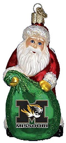 Old World Christmas University of Missouri Tigers Mizzou Santa Ornament 62911