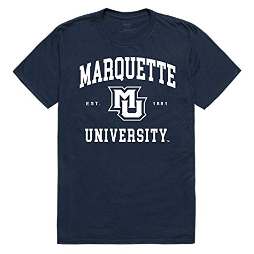Marquette University Golden Eagles NCAA Seal Tee T-Shirt Navy XXL ()