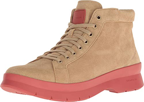 Cole Haan Men's Pinch Utility Chukka Boot Waterproof Shifting Sand Suede/Red Ochre 8.5 D US (Cole Haan Lace Up Waterproof Suede Boots)