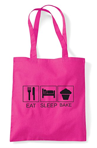 Bag Eat Fuschia Funny Hobby Bake Tiles Sleep Activity Tote Shopper xAqwv7fA0