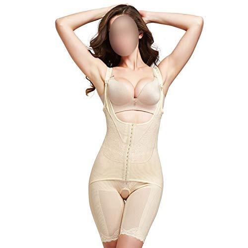 - sensitives Slimming Underwear Shapewear Bodysuit Women Lingerie Waist Trainer Body Shaper Corrective Underwear,Apricot,M