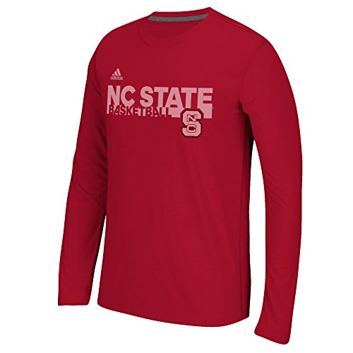 NCAA North Carolina State Wolfpack Men's Sideline Grind Climalite Ultimate Long Sleeve Tee, Large, Red