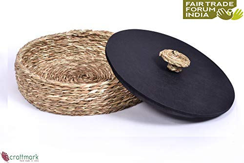 KADAM HAAT Natural Fiber Handcrafted Sabaii Grass and Bamboo Based Serving Plate (Light Natural) Price & Reviews