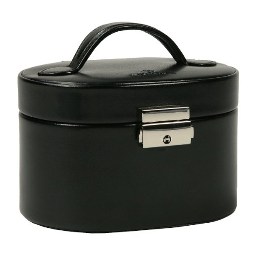 Windrose Merino Schmuckkoffer klein mit Einsatz 8 schwarz