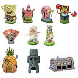 Spongebob 10-Piece Aquarium Decorative Set