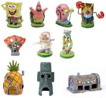 Spongebob 10-Piece Aquarium Decorative Set by Nickelodeon