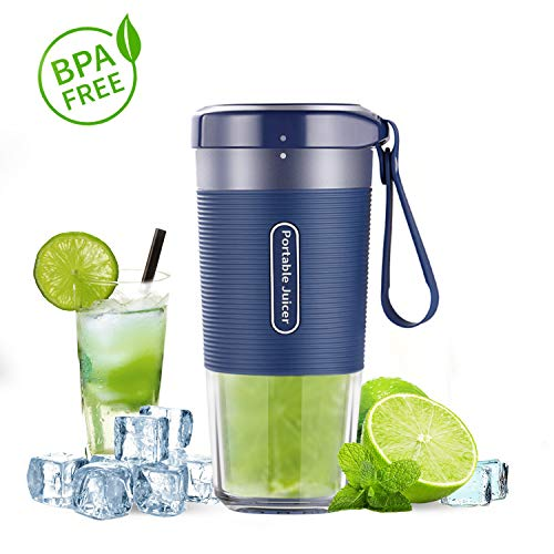 Portable Blender, Cordless Personal Blender Juicer, Mini Mixer, Waterproof Smoothie Blender With USB Rechargeable, BPA Free Tritan, Home, Office, Sports, Travel, Outdoors