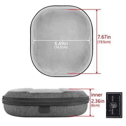 Geekria UltraShell Headphone Case for Sony WH-CH510, WH-CH500, WH-XB900N, WH-1000XM3, 1000XM2, MDR-1000X Headphones, Replacement Protective Hard Shell Travel Carrying Bag with Room for Parts (Dark)