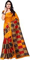 Aarvicouture Women's Cotton Silk Saree (Ac-Sr-7803_Beige_Free Size)