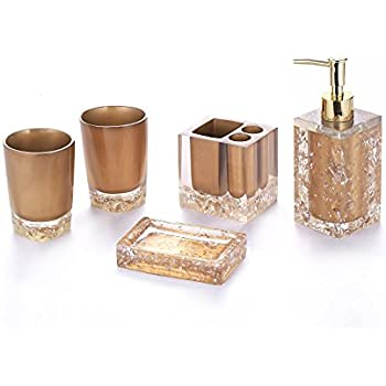 bronze bathroom accessory set complete gold bathroom accessories chrome for bathroom powder room - Gold Bathroom Accessories