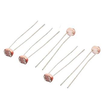 uxcell 5Pcs 5549 Photoresistor LDR CDS 5mm Light-Dependent Resistor ...
