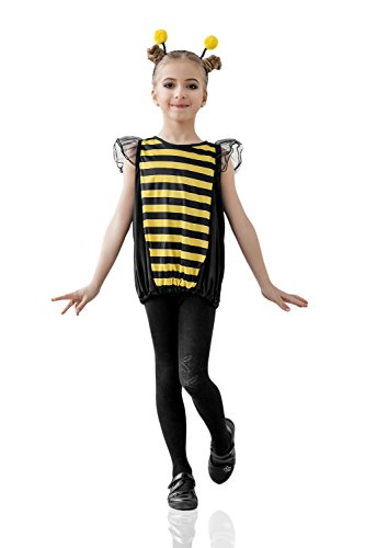 Little Costumes Bee (Kids Girls Little Buzzy Bee Costume Bumble Honey Wasp Birthday Bug Party Dress Up (3-6 years, Yellow,)