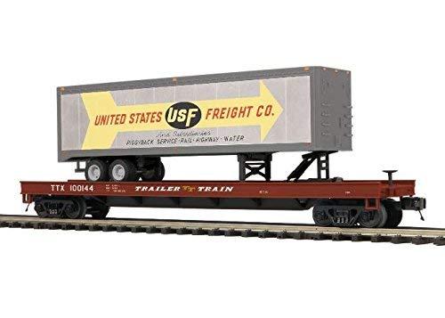 米国FreightフラットCar W / Trailer