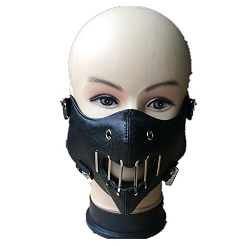 The Silence of The Lambs Hannibal Lecter Cosplay Mask Halloween Black Mask Movie Prop ()
