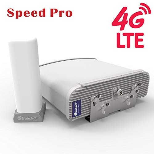 SolidRF Cell Phone Signal Booster SpeedPro Kit for Home and Office All Carriers 2g/3G/4G Up to 50,000 Sq Ft