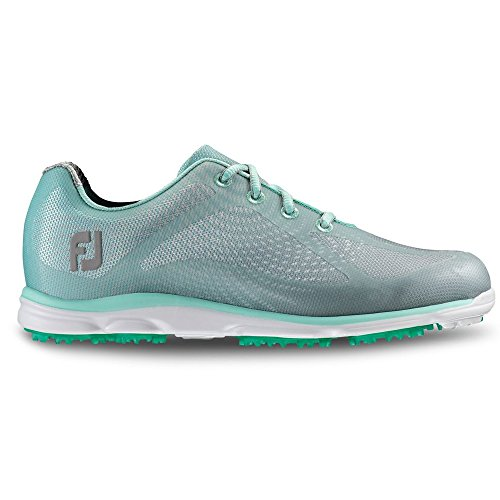 FootJoy EmPower Spikeless Golf Shoes CLOSEOUT Womens Gray/Seaglass Medium 9 (Shoes Closeout Golf)