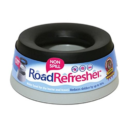 Road Refresher Non Spill Water Bowl Large Grey (PACK OF 2)