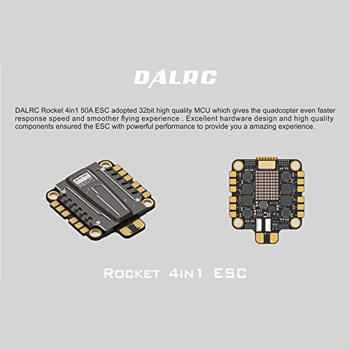 Wikiwand DALRC Rocket 50A 4 in 1 ESC Brushless 3-6S Blheli_32 LIHV DSHOT1200 for Drone by Wikiwand (Image #7)