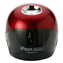 Westcott iPoint Ball Battery Pencil Sharpener, Red/Black (15570)