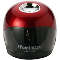 Westcott iPoint Ball Battery Pencil Sharpener (Red/Black)