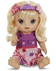 Hasbro Baby Alive hårmagi Baby med blont hår, talande docka med hår som växer och blir kortare, leksak för barn från 3 år