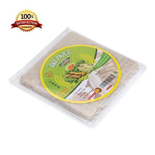 (Tanisa Spring Roll Rice Paper Wrapper for Fresh Roll & Deep Fried(22cm, Square, 12 Oz/pack))