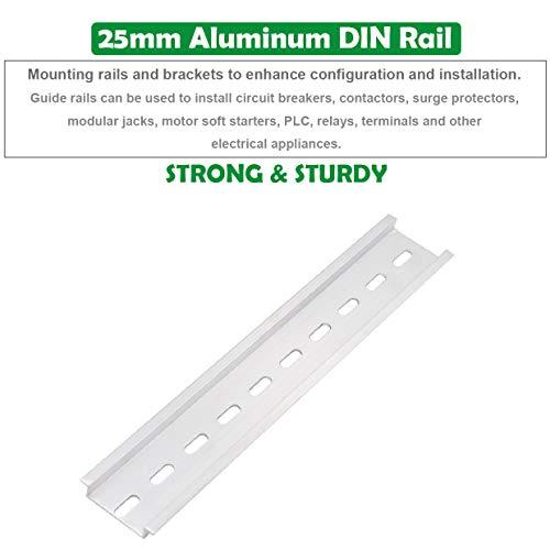 Supports DExtr/éMit/é E//Uk Vaorwne Kit de Borniers de Rail DIN Blocs de Mise /à la Terre Bornier Uk5N Capuchons DExtr/éMit/é D-Uk Kits de Cavaliers de Pont Rails en Aluminium