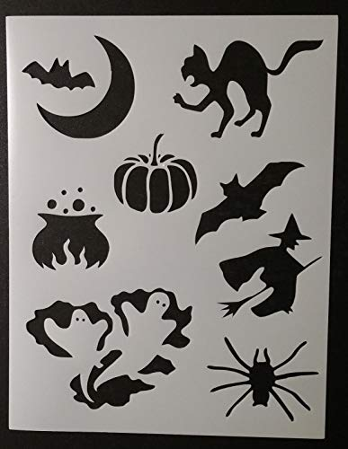 OutletBestSelling Reusable Sturdy Halloween Bat Cat Pumpkin Witch + 8.5