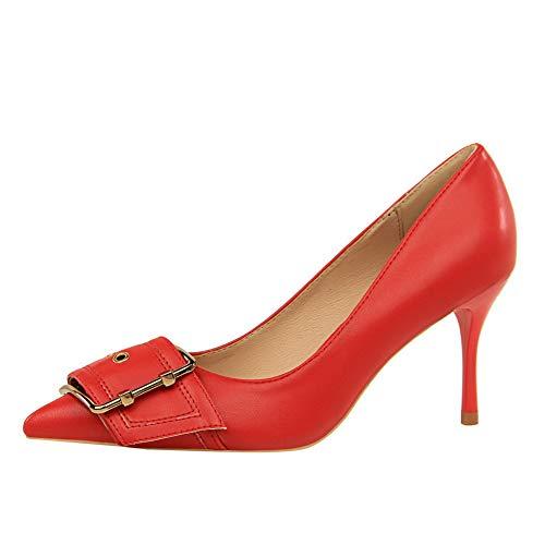 Red 1TO9 Rouge Femme Compensées Sandales EU 5 36 MMS06262 BrzqFrX