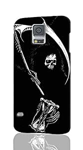 Grim Reaper Gothic Death Angel ROUGH Skin 3D Case Cover for Samsung Galaxy S5 I9600 Regular