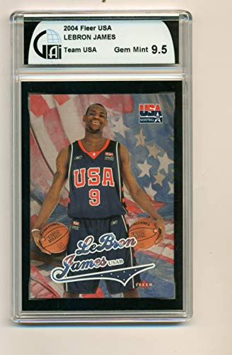 (2004 Fleer LeBron James USA Basketball GAI 9.5 Gem)