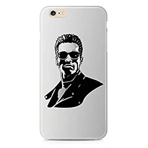 Loud Universe Black Grey Arnold face iPhone 6 Case Terminator iPhone 6 Cover with 3d Wrap around Edges