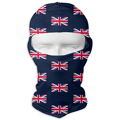 Leopoldson UK Flag Union Jack Balaclava UV Protection Windproof Ski Face Masks for Cycling Outdoor Sports Full Face Mask Breathable ()