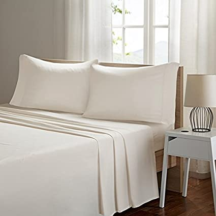 Smart Cool Microfiber Twin Bed Sheets, Casual Ivory Cooling Sheets, Cooling  Bed Sheets 3