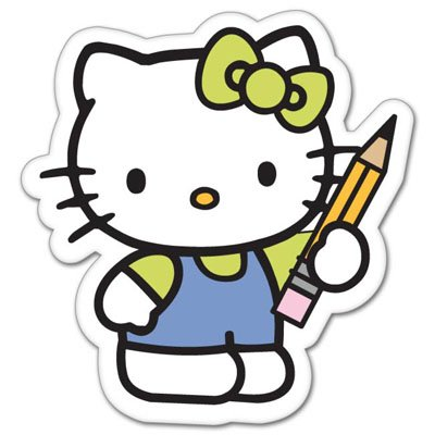 Hello kitty school. Vynil car sticker decal