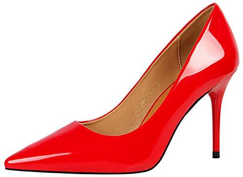 Stiletto Court 9CM on Red Slip Women vpnnx Vaneel Shoes xwAFn