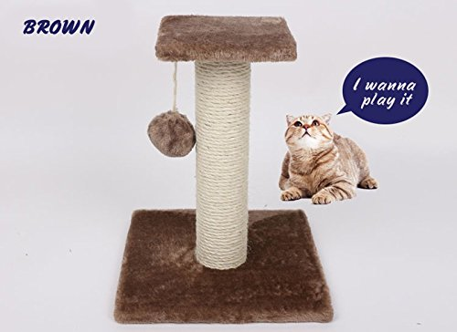 - 1 PCPet Cat Toys Interactive Tree Tower Shelves Ladder Climbing Frame Sisal Rope ball Cat Scratching Post for Kitten Scratcher Play Color Brown
