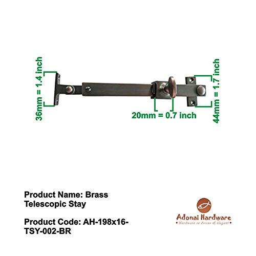 Adonai Hardware Brass Telescopic Casement Sliding Window Stay (Oil Rubbed Bronze)- Supplied as 2 Pieces per Pack by Adonai Hardware (Image #4)