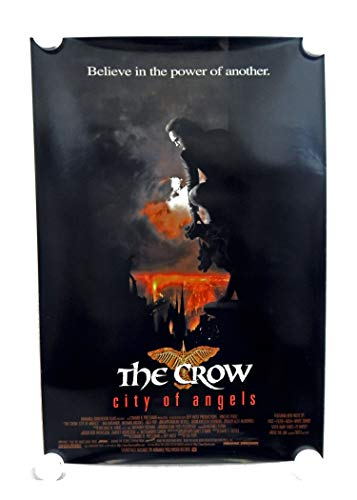 Vintage 1996 The Crow City of Angels Two Sided Original Movie Theater Poster