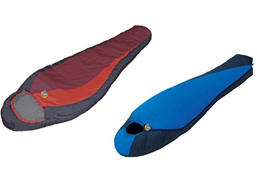 High Peak USA Alpinizmo Lite Weight Extreme Redwood (-5F) Sleeping Bag Combo Set, Blue/Red, One Size by Alpinizmo