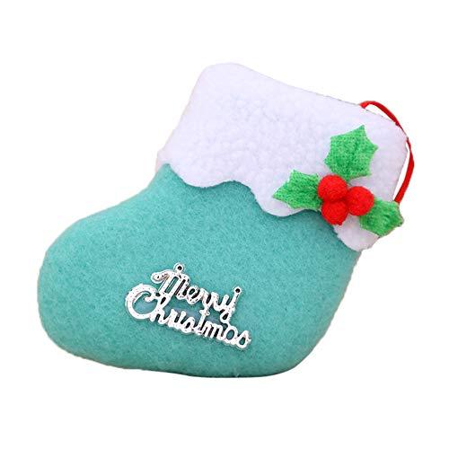 GzxtLTX-Socks,Christmas Decorations New Year Gifts Santa Snowman Socks Christmas Socks Gift (Blue) by GzxtLTX-Socks