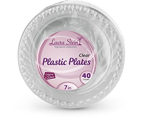 Laura Stien Clear Plastic 7 Inch Plates Pack Of (7 Dessert)