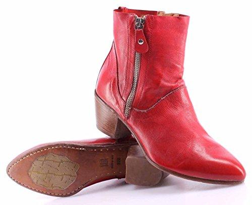 Botines Vintage 8F MOMA Mujeres Siviglia Rosso Rojo Nuevo Cuero 49501 Zapatos Ucq5ynpZ