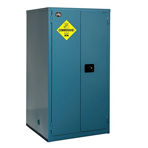 New Pig CAB759 18-Gauge Steel Corrosives Safety Cabinet with Self Close Door, 60 Gallon Capacity, 34