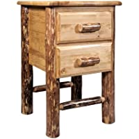 Montana Woodworks MWGCN2DN Glacier Country Collection 2-Drawer Nightstand/End Table