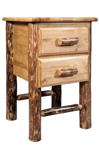 (Montana Woodworks MWGCN2DN Glacier Country Collection 2-Drawer Nightstand/End)