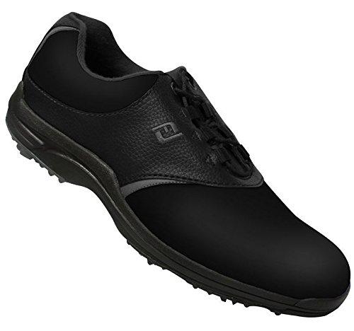 FootJoy Closeout GreenJoys Men's Golf Shoes - Black/Charcoal (9.0 D(M) US) (Shoes Golf Closeout)