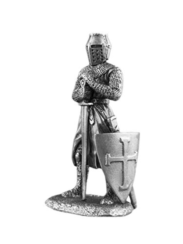 Medieval Knight with Sword Sculpture UnPainted Tin Metal ...