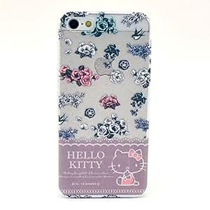 ZXM-Peonías bonita del modelo de diseño de la flor Caso duro de la cubierta para el iPhone 5/5S